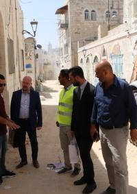 عقد اجتماع اللجنة المشتركة لتنسيق مشاريع إعادة تأهيل المركز التاريخي والديني لمدينة بيت لحم