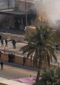 هجوم صاروخي يستهدف قاعدة للتحالف الأميركي والسفارة الأميركية في بغداد