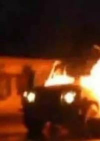 إحراق جيب إسرائيلي بمواجهات في مخيم شعفاط