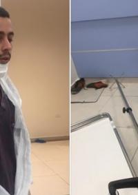 ذوو مريض توفي بكورونا يهاجمون مشفى دورا ويعتدون على الطاقم الطبي