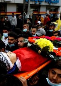 تشييع جثمان الشهيد الطفل علي أبو عليا في المغير
