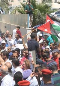 تظاهرة في عمان لطرد السفير الاسرائيلي من الاردن