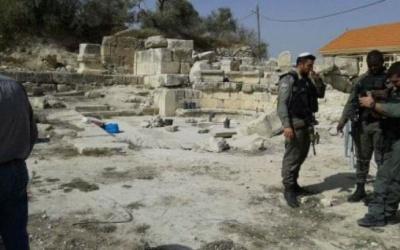 الاحتلال يقتحم الموقع الأثري في سبسطية شمال نابلس