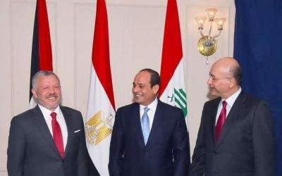 قمة أردنية مصرية عراقية تُؤكد دعمها للحل السياسي الشامل لقضية فلسطين