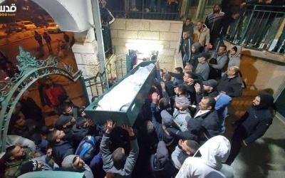 رغم مضايقات الاحتلال- تشيع جثمان الشهيد فارس أبو ناب