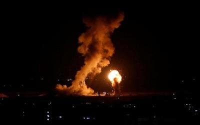 إصابة مواطن في قصف لطيران الاحتلال على قطاع غزة