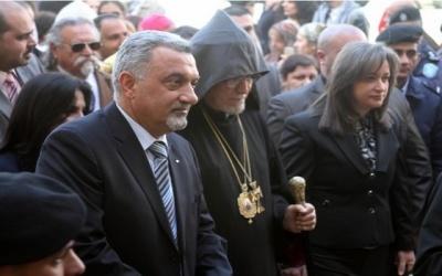 وصول موكب بطريرك الأرمن الى بيت لحم