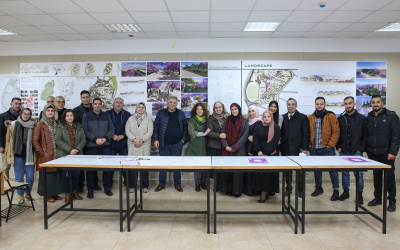 طلبة هندسة العمارة في جامعة القدس يقدمون حلولاً معمارية ابتكارية لمخطط الجامعة الهيكلي
