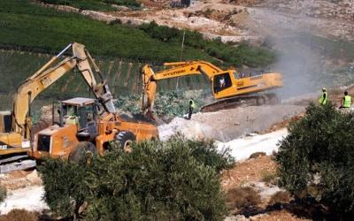 الاحتلال يجرف 50 دونما شرق سلفيت لتوسعة مستوطنة