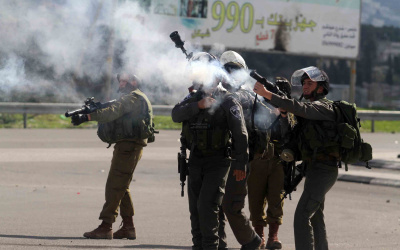 الاحتلال يصيب عددا بالاختناق في مواجهات بتقوع شرق بيت لحم