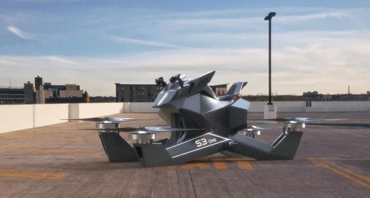 أول دراجة نارية طائرة في العالم